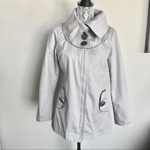 Soia Kyo Trench Coat Large Collar